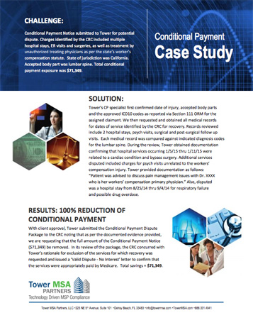 PDF case study MSA Conditional Payment results